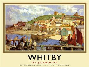 Whitby (old rail ad.) large steel sign 400mm x 300mm (og)